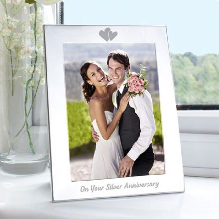 25th Silver Wedding Anniversary 5x7 Photo Frame